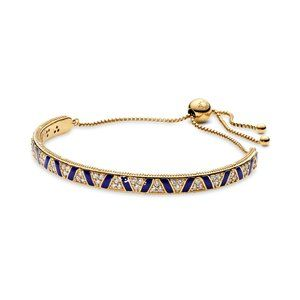 Pandora Blue Stripes & Stones Slider Bracelet